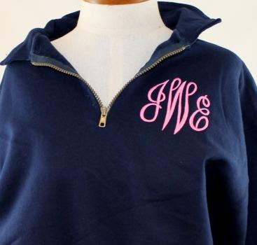 pink_navy_monogram_zip_sweatshirt
