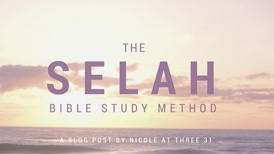 SELAH Bible Study Method