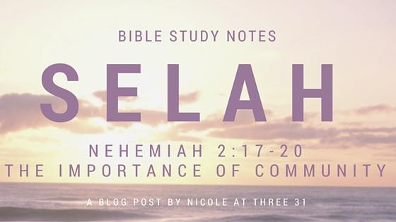 SELAH - Importance of Community