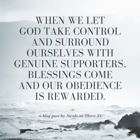 When we let God take control